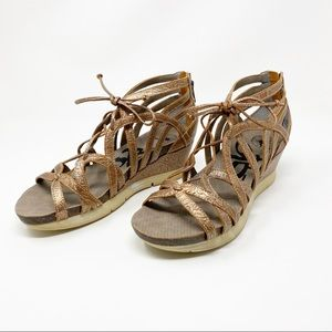 NEW OBTB Nomadic Wedge Gold Sandals Size 8.5